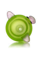 Sugar Matty 14mm Frosted Glass Green Classic Pig Slide by Sugar Matty's