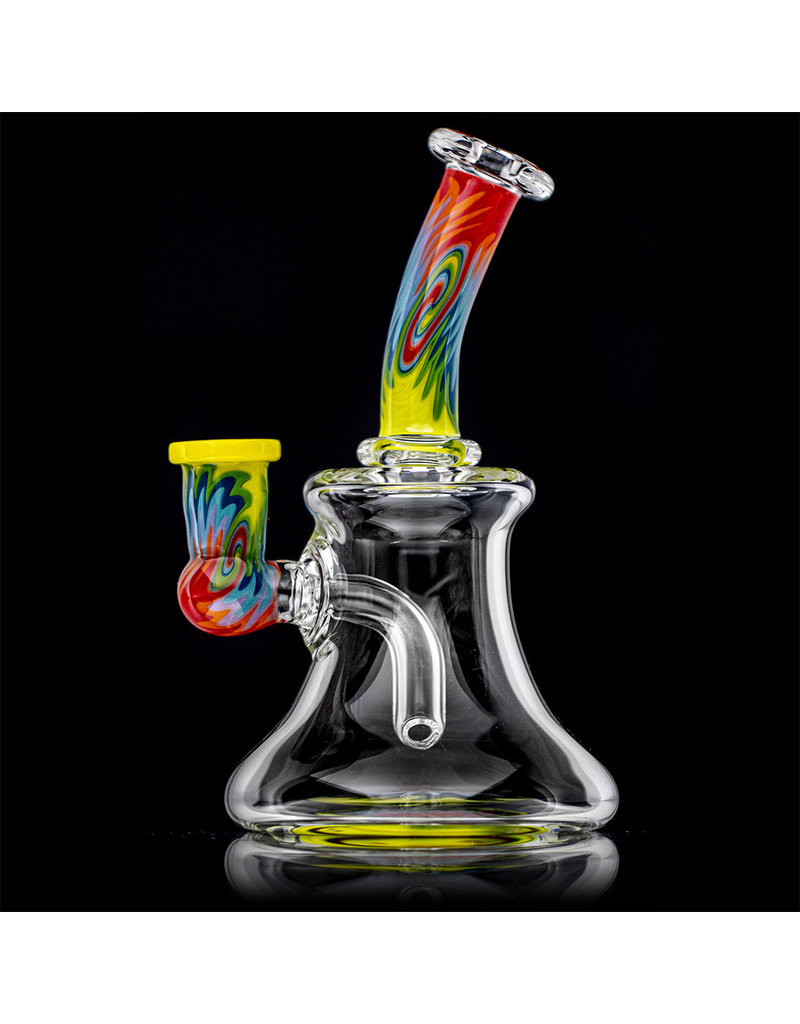 """Jemmie Bandy 14mm 6.75"""" Dab Rig Worked Banger Hanger (H) by Jemmie Bandy"""