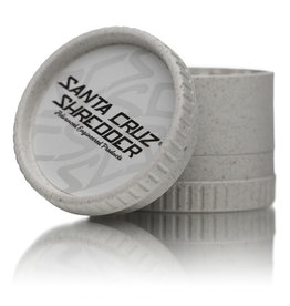 Santa Cruz Shredder WHITE 3 Piece Grinder MADE 100% from HEMP by Santa Cruz Shredder