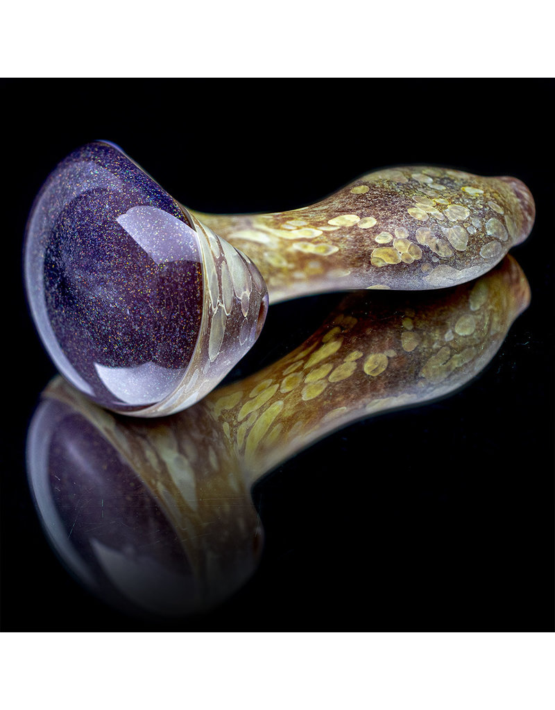 "Stone Tech Glass Glass Pipe DRY 4"" Crushed Opal Cap Stone Pipe (Q) by Stone Tech Glass"