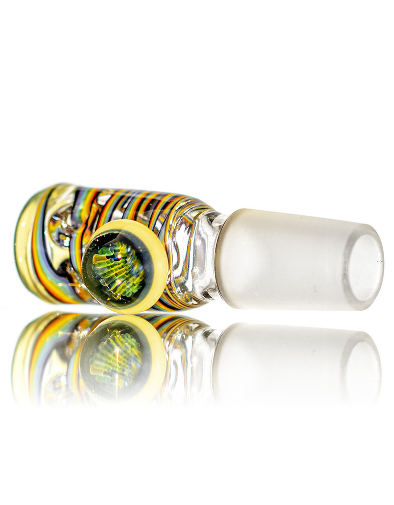 Black Tuna Glass 18mm Bong Bowl Slide with Marble Handle and 5-Hole glass screen by Black Tuna (D)