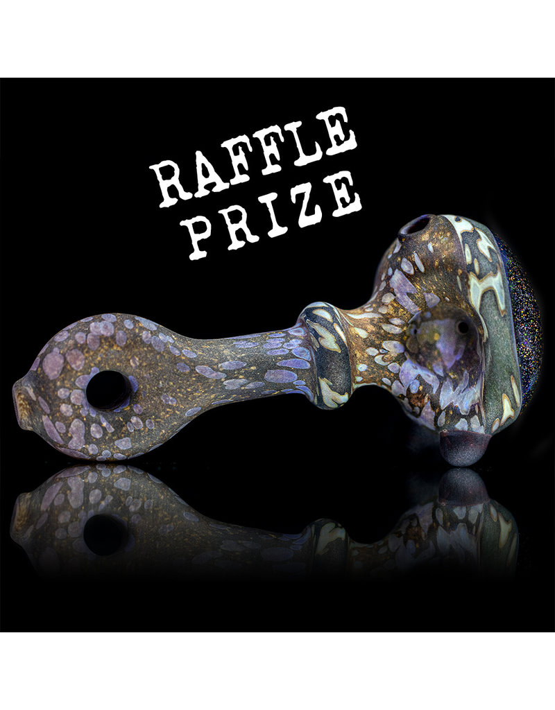 """Stone Tech Glass Glass Pipe DRY 4"""" Crushed Opal Cap Stone Pipe (N) by Stone Tech Glass"""