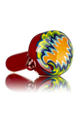"Jemmie Bandy Glass Pipe 4"" Inside Out Frit with Wig Wag Cape (G) by Jemmie Bandy"