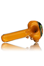 "Jemmie Bandy Glass Pipe 4"" Inside Out Frit with Wig Wag Cap (H) by Jemmie Bandy"