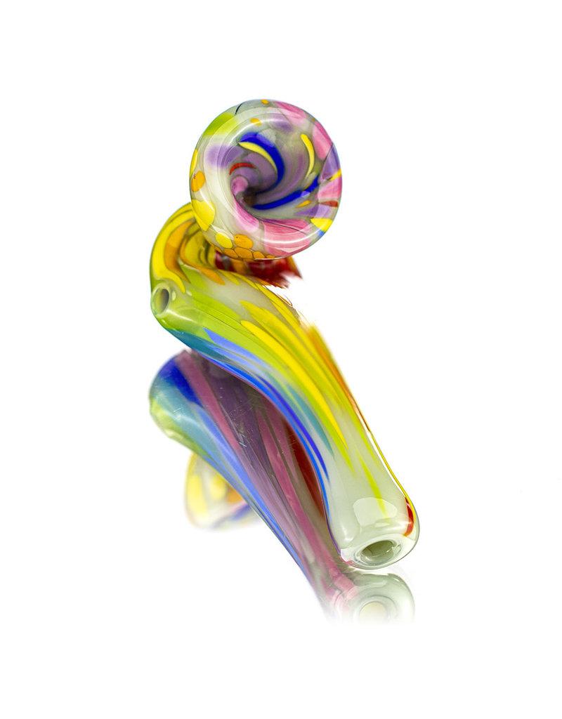 "Special K Soft Glass 4"" Rainbow Pull Mini Sherlock Dry Pipe by Special K Glass (B)"