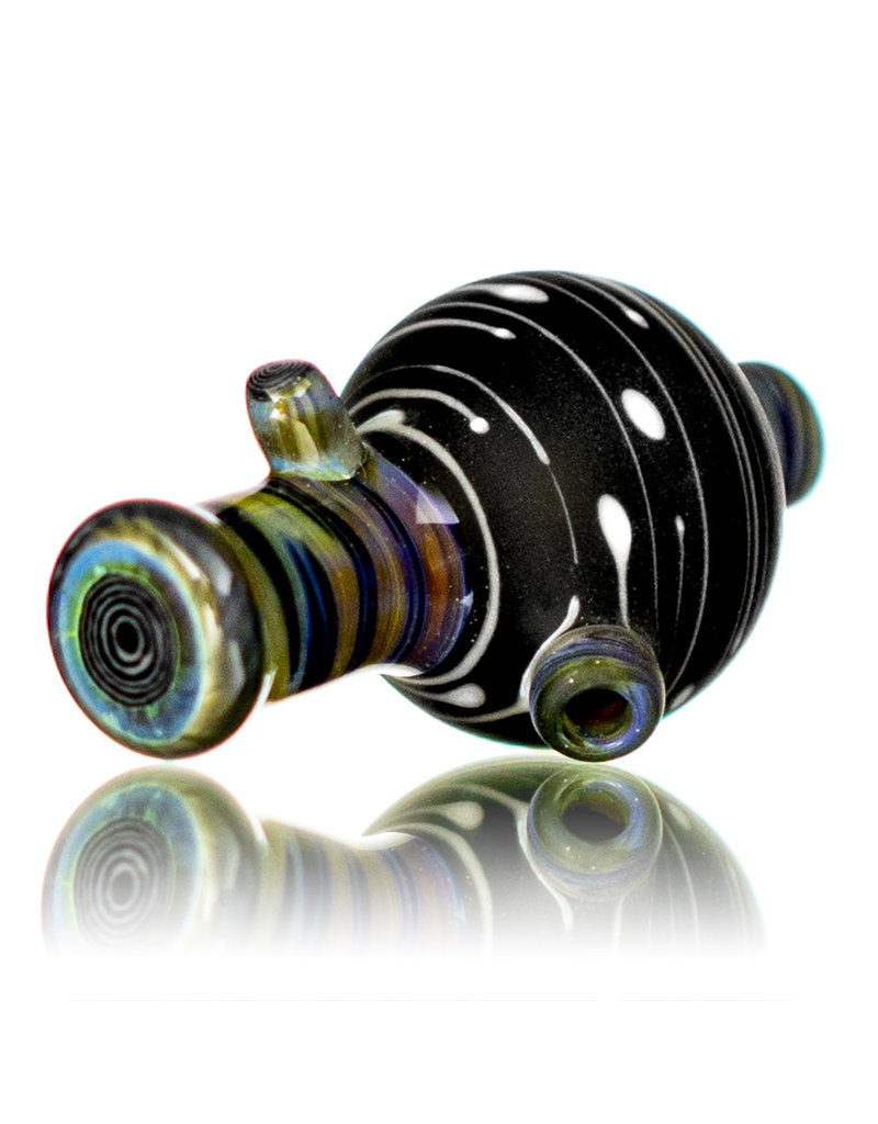 Witch DR 25mm Glass Bubble Carb Cap (E) Frosted Black Birch by Engelmann Brothers