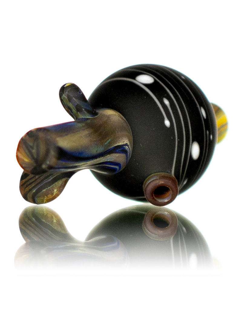 Witch DR 25mm Glass Bubble Carb Cap (G) Frosted Black Birch by Engelmann Brothers