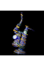 """Mike Fro 14mm 10"""" Double Bubbler Water Pipe with Matching Slide by Mike Fro (C)"""