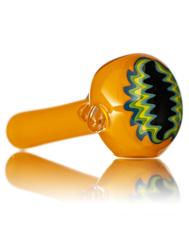 """Jemmie Bandy Glass Pipe 4"""" Inside Out Frit with Wig Wag Cap (i) by Jemmie Bandy"""