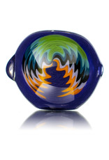 """Jemmie Bandy Glass Pipe 4"""" Inside Out Frit with Wig Wag Cap (L) by Jemmie Bandy"""