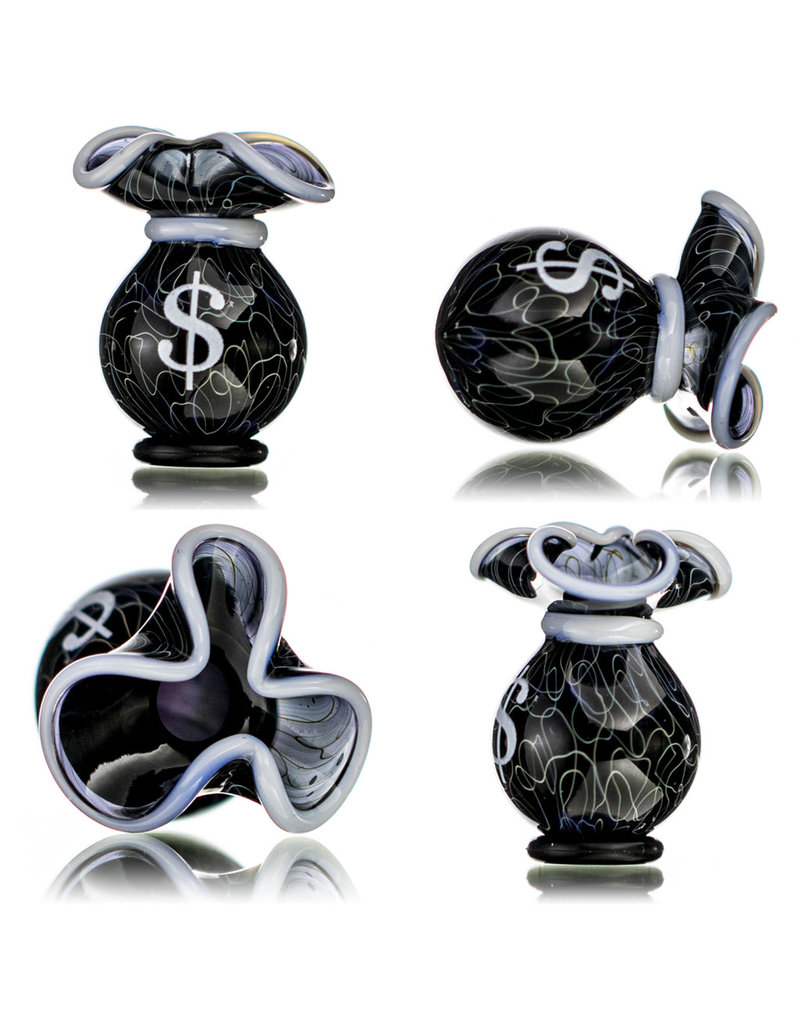 25mm Glass Money Bag Squiggle Slurper Cap (A) by JAG X GERM