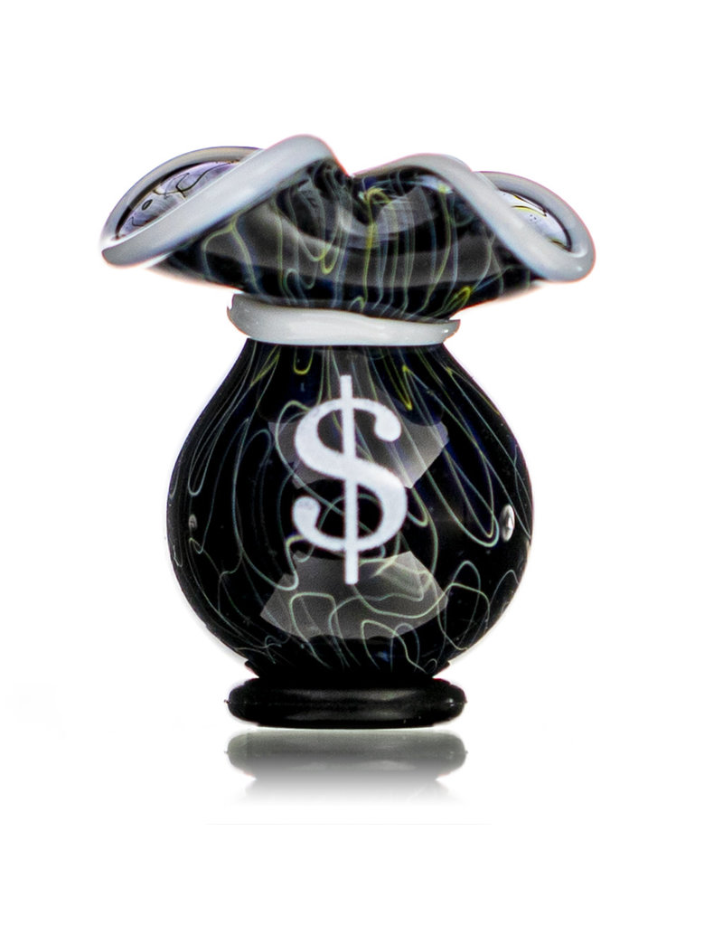 25mm Glass Money Bag Squiggle Slurper Cap (D) by JAG X GERM