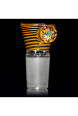 Witch DR 18mm Bong Bowl Slide with 4 Hole Glass Screen and Millie Handle by Keith Engelmann  (C)