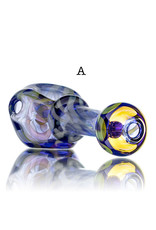 "BATCH.420 4"" Glass Color Pipe with FUME Accents over BLUE by Willow Gayton"