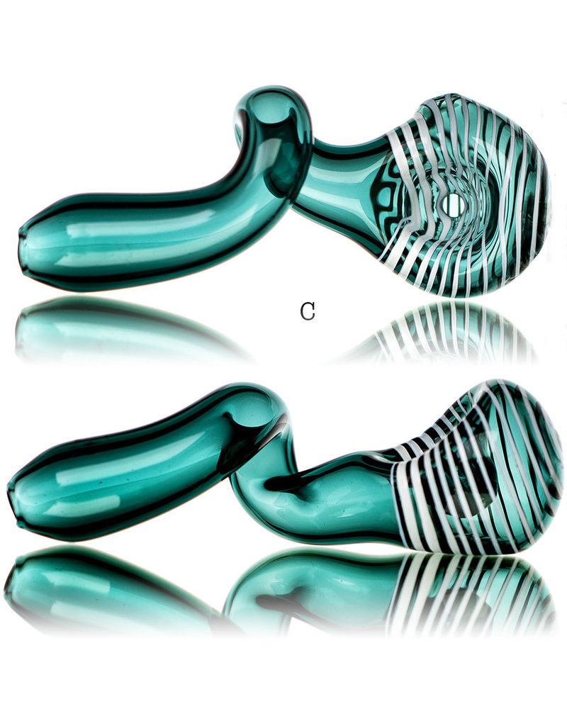 """Jeff Beal BATCH.710 4"""" Glass Pipe LAKE with Spiral Cap by Jeff Beal"""