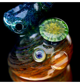 "SOLD "" Glass Pipe Bubbler Standup Sidecar by Verde Flameworks (A)"