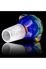 18mm Bong Bowl Slide Piece (B) HYACINTH / JADE / CANARY / LAVA Inside Out Colored Frit by Chris Anton