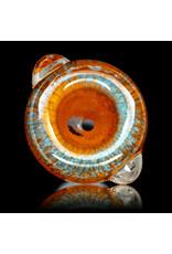 18mm Bong Bowl Slide Piece (L) LAVA / AQAU Inside Out Colored Frit herbs by Chris Anton