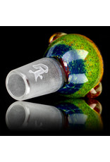 18mm Bong Bowl Slide Piece (M) MIDNIGHT / JADE / LAVA / CHERRY Inside Out Colored Frit by Chris Anton