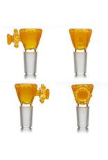 Fidget Glass 14mm Glass Bong Bowl Slide Fidget Spinner (C) ORANGE SHADE by Fidget Glass