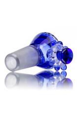 Fidget Glass 14mm Glass Bong Bowl Slide Fidget Spinner (D) COBALT by Fidget Glass