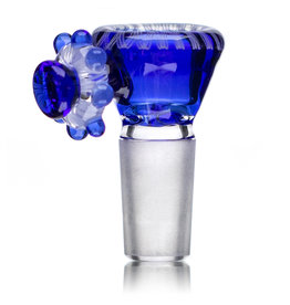 Fidget Glass 14mm Glass Bong Bowl Slide Fidget Spinner (D) COBALT by Fidget Glass