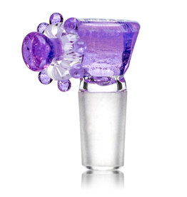 Fidget Glass 14mm Glass Bong Bowl Slide Fidget Spinner (G) PURPLE LOLLIPOP by Fidget Glass