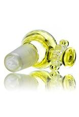 Fidget Glass 14mm Fidget Spinner (J) SERUM Bowl Slide by Fidget Glass