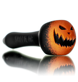 "Witch DR DOCTOBER 2020 5"" Frosted Orange Frit Pumpkin Dry Pipe D by Witch DR"
