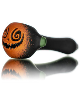 "Witch DR DOCTOBER 2020 5"" Frosted Orange Frit Pumpkin Dry Pipe A by Witch DR"