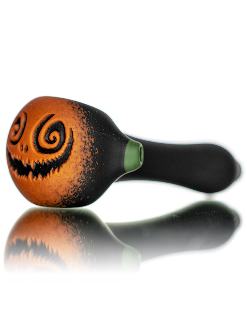 """Witch DR DOCTOBER 2020 5"""" Frosted Orange Frit Pumpkin Dry Pipe A by Witch DR"""