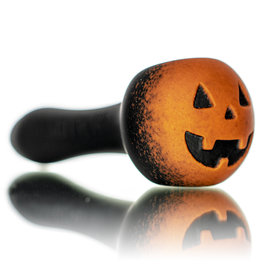 "Witch DR DOCTOBER 2020 5"" Frosted Orange Frit Pumpkin Dry Pipe B by Witch DR"