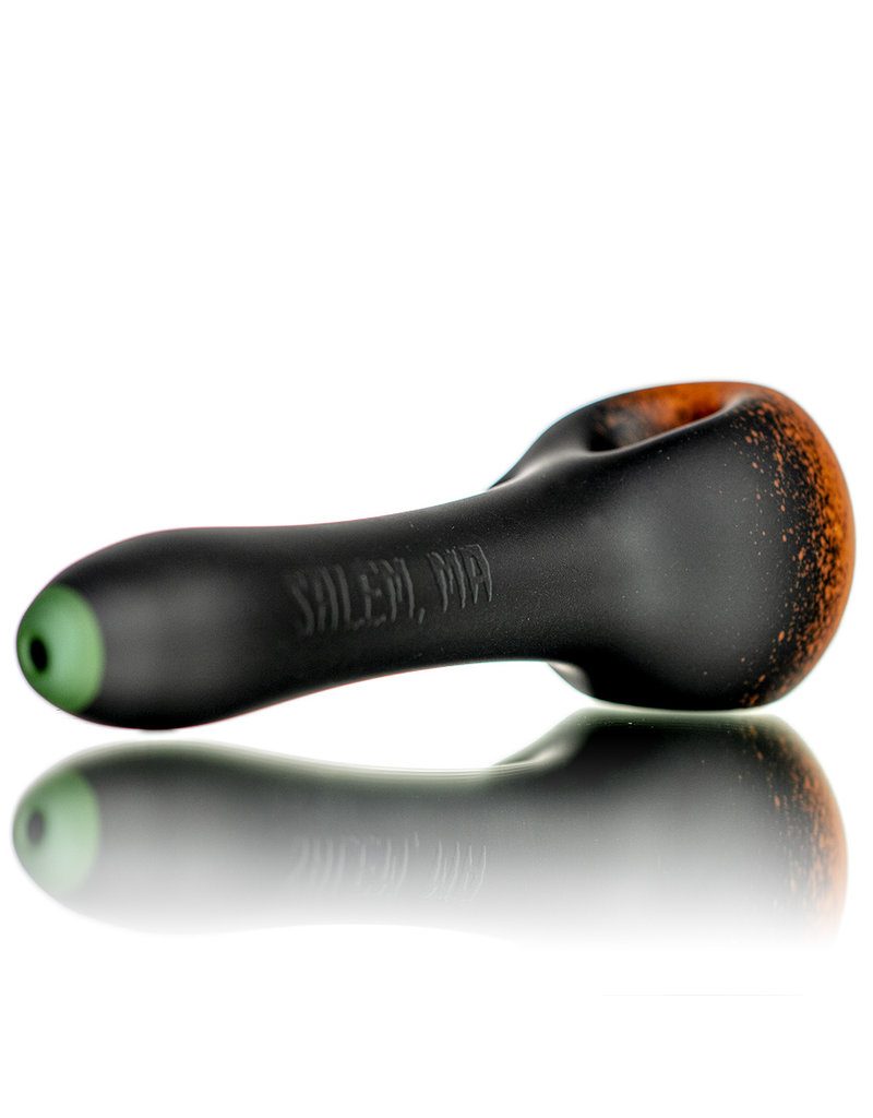 "Witch DR DOCTOBER 2020 5"" Frosted Orange Frit Pumpkin Dry Pipe C by Witch DR"