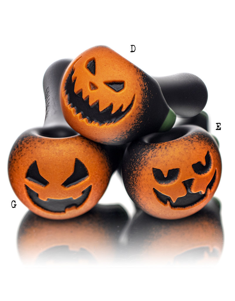 """Witch DR DOCTOBER 2020 5"""" Frosted Orange Frit Pumpkin Dry Pipe D by Witch DR"""