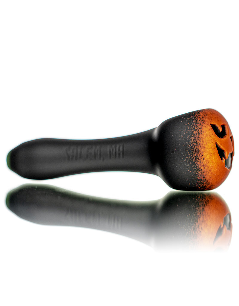 "Witch DR DOCTOBER 2020 5"" Frosted Orange Frit Pumpkin Dry Pipe E by Witch DR"