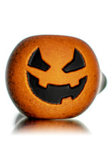 "Witch DR DOCTOBER 2020 5"" Frosted Orange Frit Pumpkin Dry Pipe G by Witch DR"