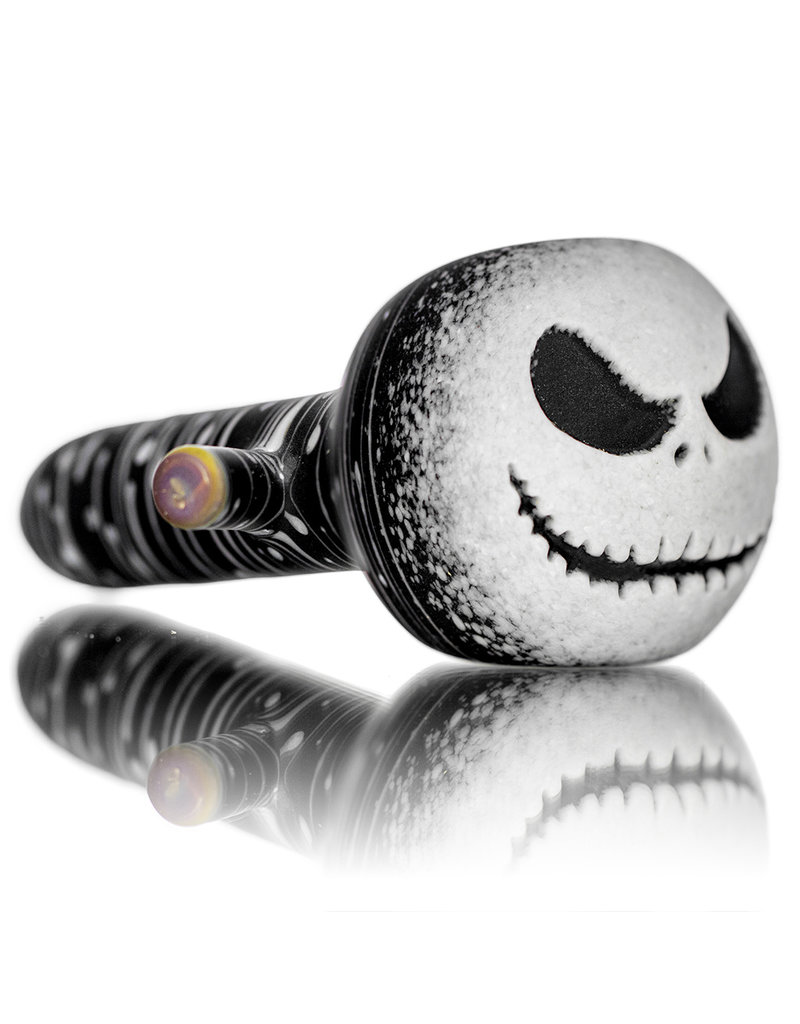Witch DR BATCH.420 DOCTOBER 2020 Frosted JACK Black Birch Pumpkin Pipe by Witch DR Studio