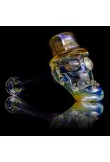 "Bob Snodgrass 5"" Glass Pipe DRY Bob Snodgrass Top Hat #7 SFG.2020"