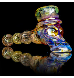 "Ginny Snodgrass-Gietl 6"" Glass Pipe DRY Top Hat with Cut & Flip Stem by Ginny Snodgrass-Gietl**"