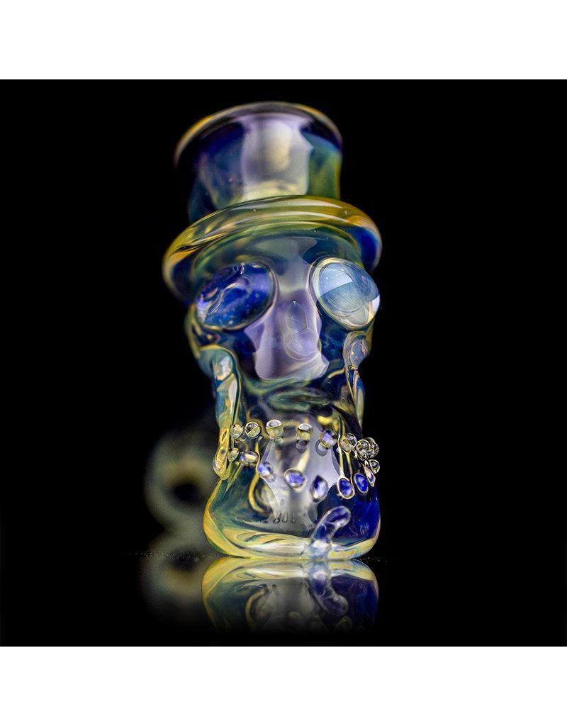 "Bob Snodgrass 5"" Glass Pipe DRY Bob Snodgrass Top Hat #2 SFG.2020"