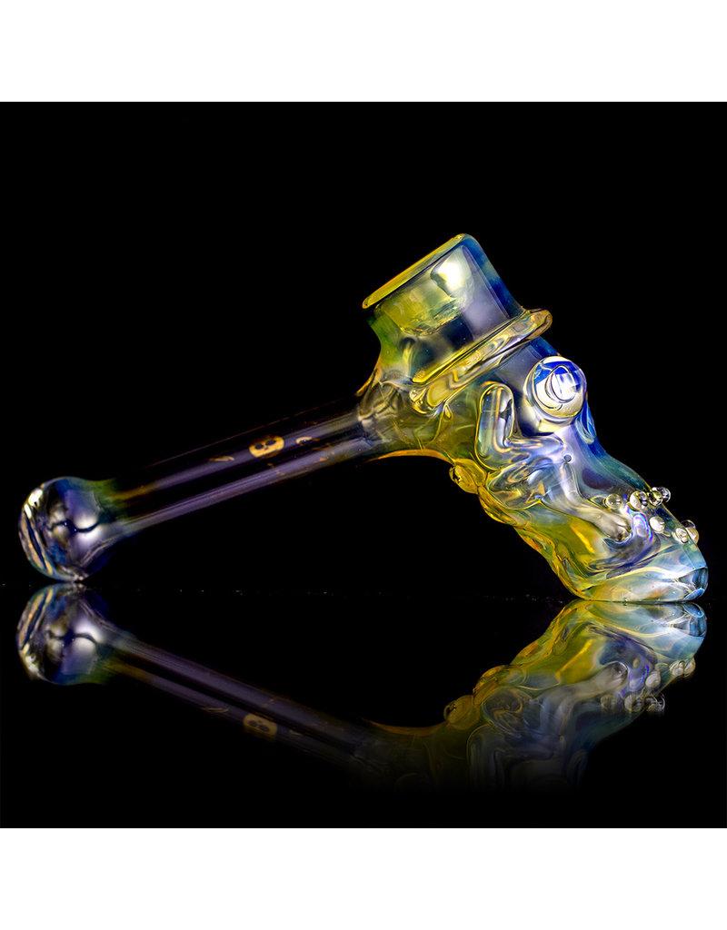 "Bob Snodgrass 5"" Glass Pipe DRY Bob Snodgrass Top Hat #3 SFG.2020"