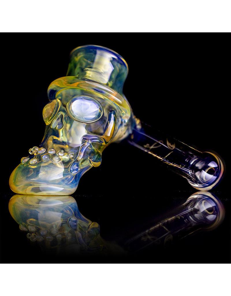 "Bob Snodgrass 5"" Glass Pipe DRY Bob Snodgrass Top Hat #4 SFG.2020"