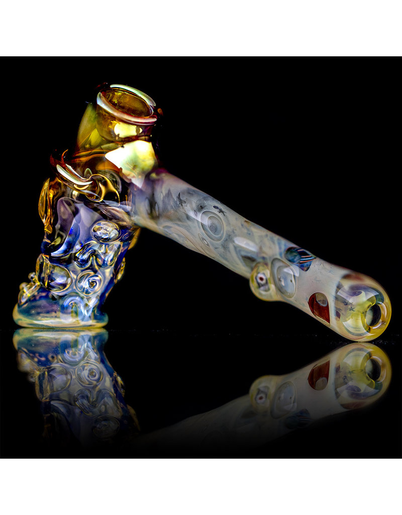 "Bob Snodgrass 6"" Top Hat with Gold Fume and UV Murrine by Bob Snodgrass SFG.2020"