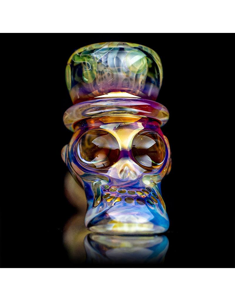 "Ginny Snodgrass-Gietl 6"" Glass Pipe DRY Top Hat with Cut & Flip Stem by Ginny Snodgrass-Gietl"