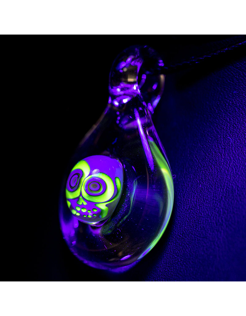 Ginny Snodgrass-Gietl UV Skull Pendant (B) by Ginny Snodgrass-Gietl