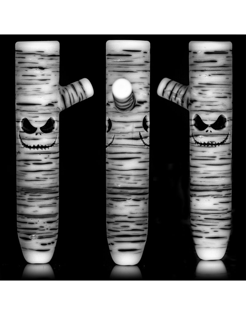 """Witch DR DOCtober 2020 4"""" Double JACK Birch Face Chillum by Witch DR"""