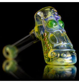 "Ginny Snodgrass-Gietl SOLD 5"" Glass Pipe DRY Owl (D) by Ginny Snodgrass-Gietl SFG.2020"