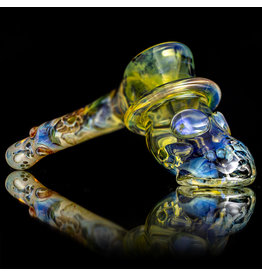 "Bob Snodgrass 7"" Glass Pipe DRY Short Chin Large Top Hat by Bob Snodgrass SFG.2020"