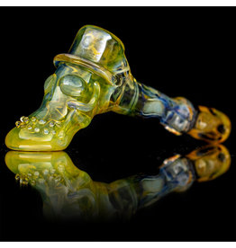 "Bob Snodgrass SOLD 5"" Glass Pipe DRY Bob Snodgrass Short Stem Top Hat SFG.2020"