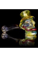"""Bob Snodgrass 5"""" Glass Pipe DRY MR. Happy by Bob Snodgrass SFG.202"""